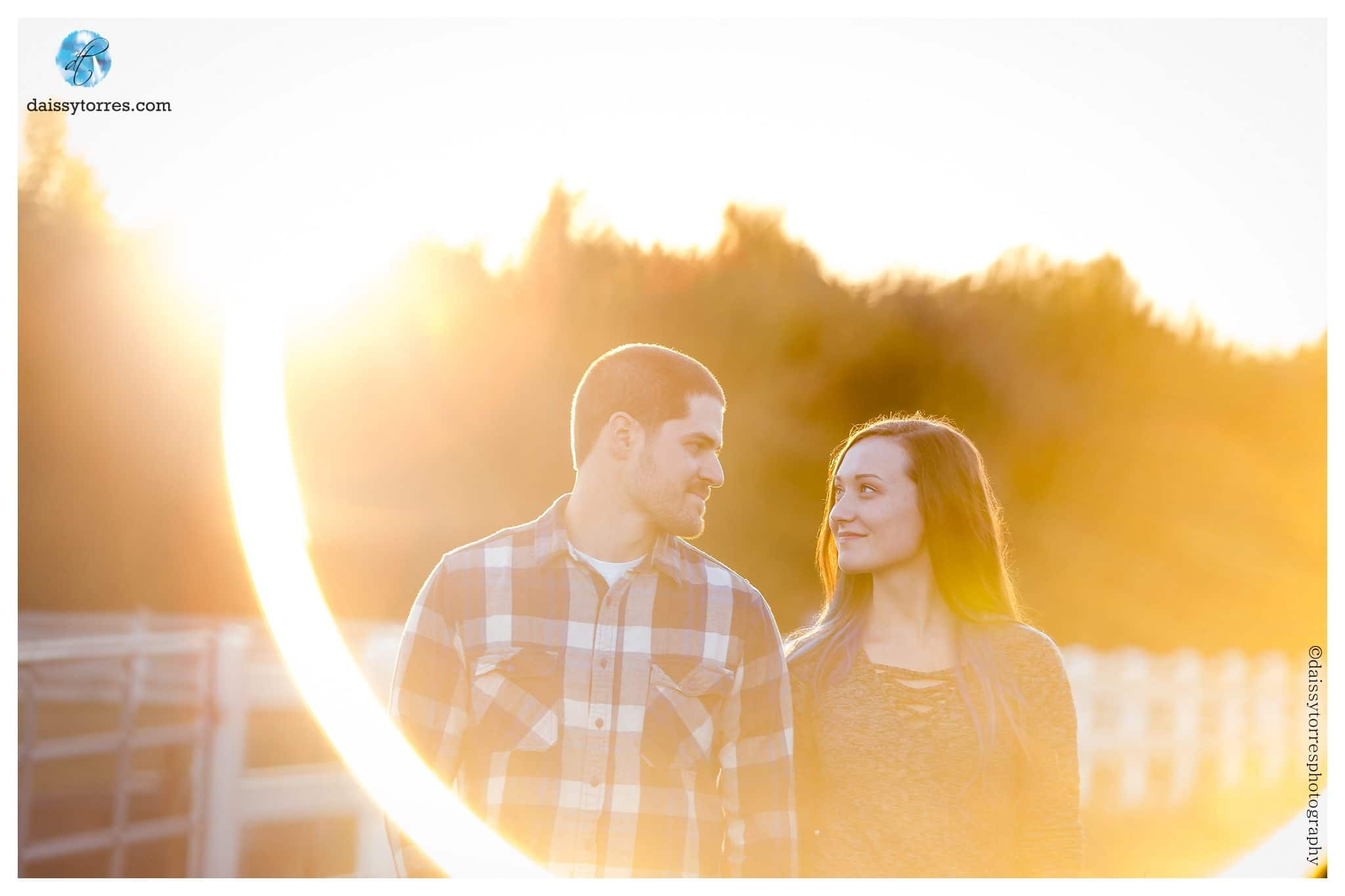 Back Bay Engagement Session - love this sun glare!