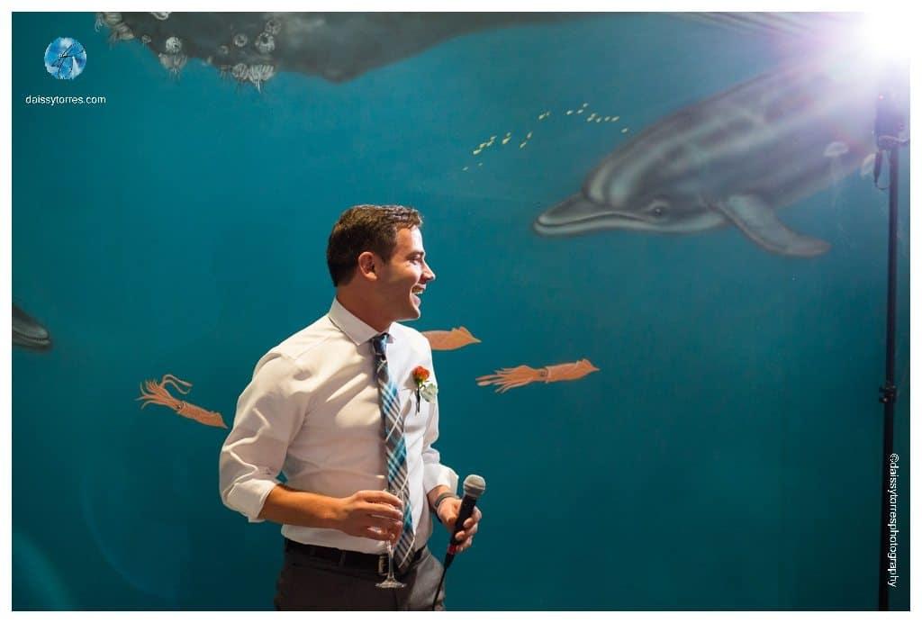 Virginia Aquarium Wedding - toast