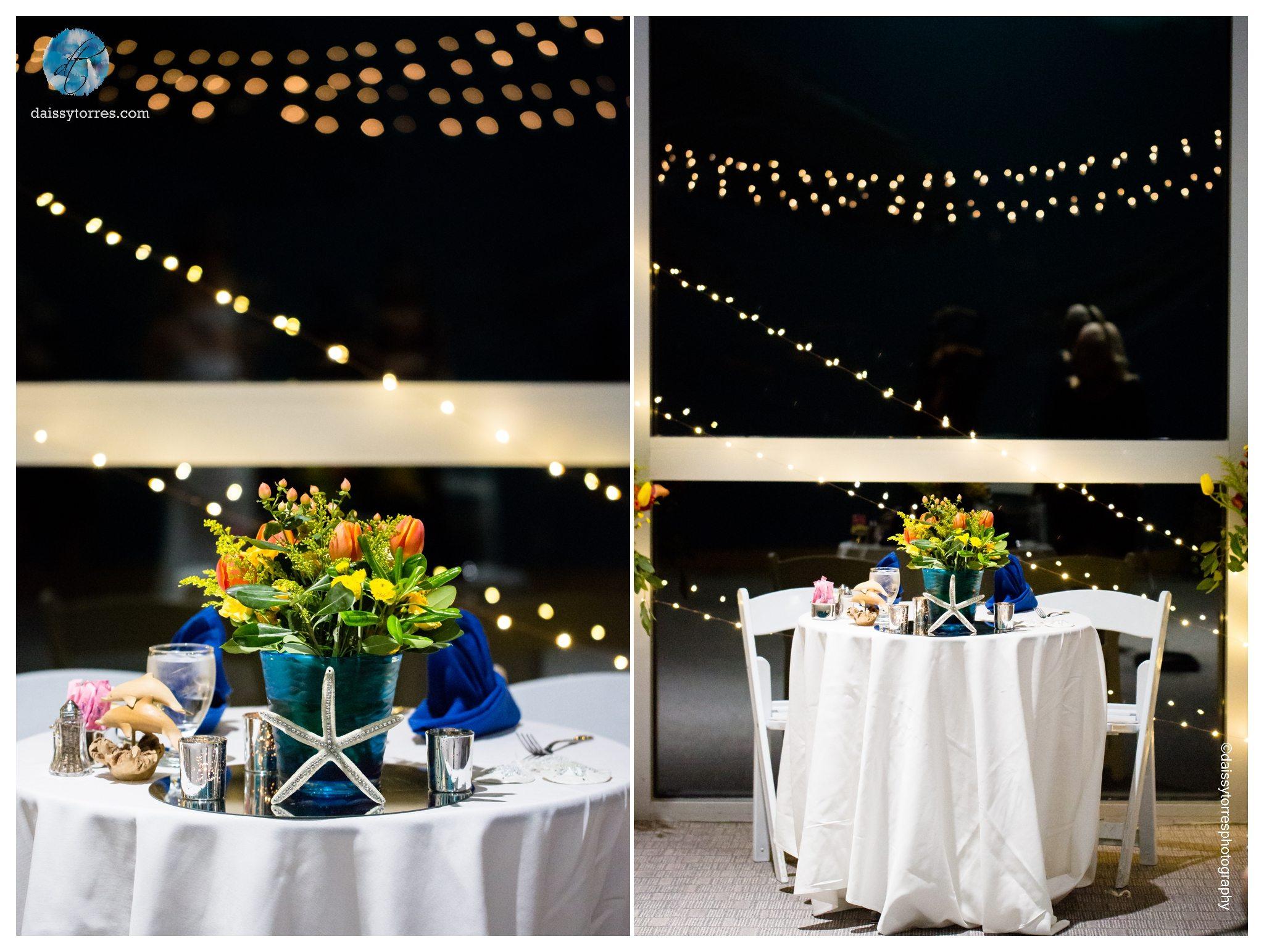 Virginia Aquarium Wedding - sweetheart table