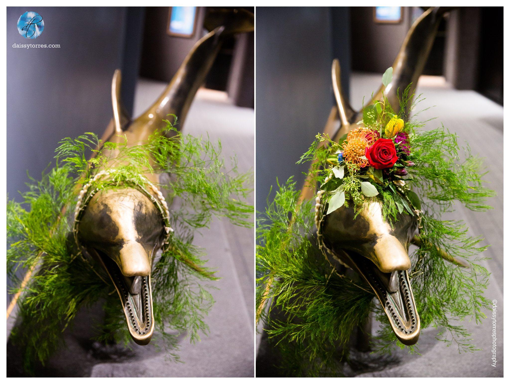 Virginia Aquarium Wedding - bouquet DIY