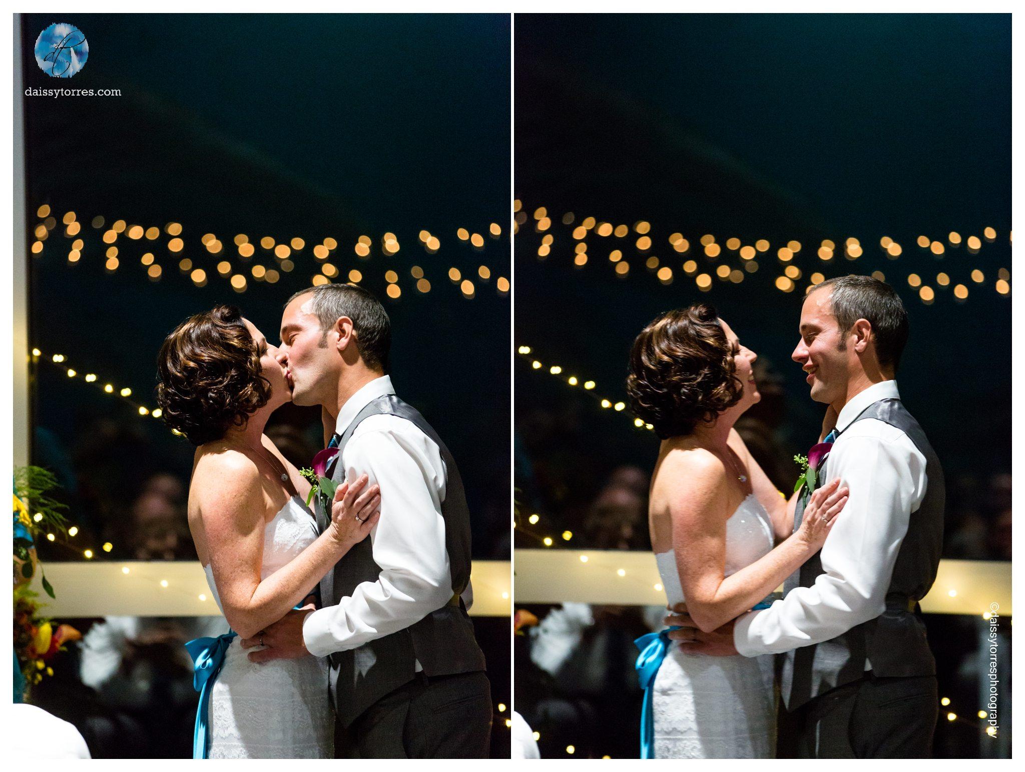 Virginia Aquarium Wedding - Ceremony Kiss