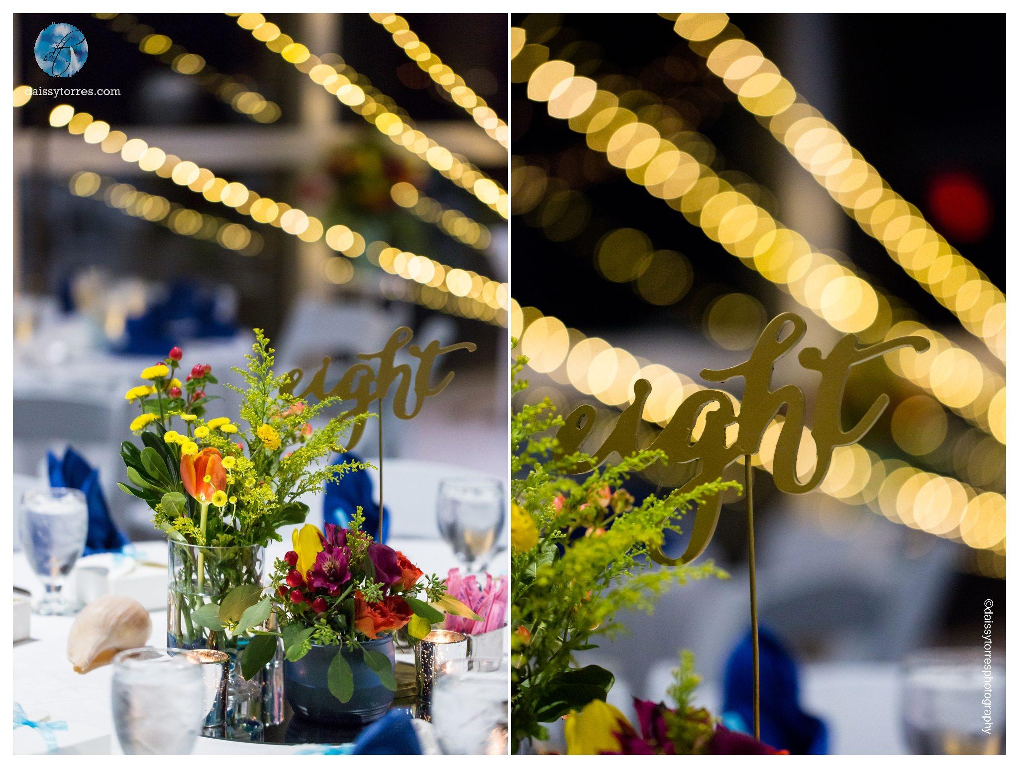 Virginia Aquarium Wedding - decor