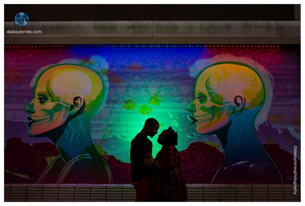 Neon District Norfolk Engagement Session